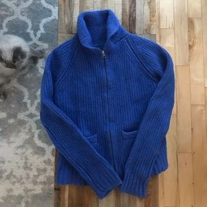 COPY - Aritzia TNA Sea to Sky wool zip up sweater